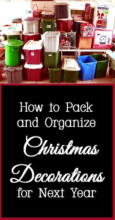 Christmas is over and now comes the not fun part - undecorating.   You could just throw everything in an unlabeled box, but you will be very unhappy come next year when it is time to decorate for Christmas again.   Here are a few tips and tricks for packing and organizing Christmas decorations.