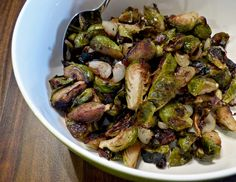 ... Balsamic Roasted Brussels Sprouts with Cipollini Onions & Prosciutto
