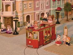 Superb Sylvanian families - Town series - Ride along tram Now At Smyths Toys UK! Buy Online Or Collect At Your Local Smyths Store! We Stock A Great Range Of Sylvanian Families At Great Prices. Sylvanian Families, Japanese Buildings, Dolls Prams, Ride Along, Ballerina Doll, Toy House, Doll Crafts, Kids Crafts, Imaginative Play