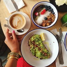 Mimi Ikonn | Avocado and Acai Bowl   my ideal breakfast combo  + almond milk cappuccino ☕️ | Delicious