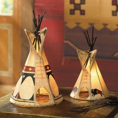 Love the different rustic decor with a Native American theme.