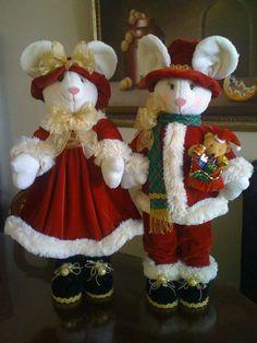 moldes muñecos ratones navideños - Buscar con Google