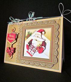 Card Gallery - A5 Triangular Base Card Mini Kit - Santa in an Envelope