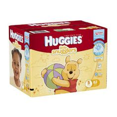 Huggies,Huggies Little Snugglers Huggies Little Snugglers Size 5 Disposable Baby Diapers - 62 Count