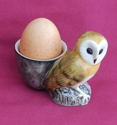 Owl egg cup - The English Owl Company