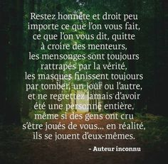 La vérité pure est dite sans offense. Affirmations, Words Quotes, Sayings, Plus Belle Citation, Self Development, Good Vibes, Beautiful Words, Inspire Me, Communication