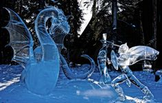 Ice Sculpture Scenes Carved by ​Steve and Heather Brice | The Dancing Rest  http://thedancingrest.com/2015/01/02/ice-sculpture-scenes-carved-by-%E2%80%8Bsteve-and-heather-brice/