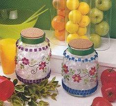 1000 images about frascos bonitos on pinterest jars - Frascos de vidrio decorados ...