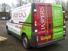 Vehicle graphic manufactured for Jasper's #sign #vehicle #van #jaspers #northampton #graphics #digitalprint #print