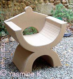 Chaise fauteuil en carton