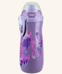BPA frei 300ml Blau auslaufsicher Nuk Junior Cup Trinklernflasche mit Push-pull-T/ülle /& Clip Maus
