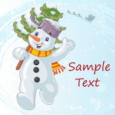 cute cartoon christmas snowman vector winter