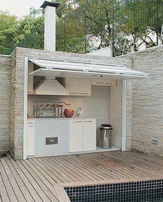 folding/garage door idea. www.steeldoordepot.com
