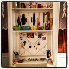 Jewelry Vanity, I could do this in my walk in closet