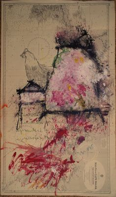 Pintura sobre carta marina para Es solo pintura, can Monroig 2016, Manuel Santiago y Marie-Noëlle Ginard. #shoponline #pintura #arte #art #painting #essolopintura
