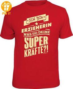 Superkräfte - Erzieherin - T-Shirt - Größe L - T-Shirts mit Spruch | Lustige und coole T-Shirts | Funny T-Shirts (*Partner-Link)