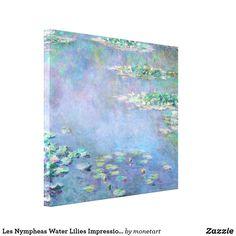 "Claude Monet Waterlilies no.9 Fine Art Canvas Print 24X18/"""