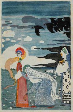'Les corbeaux' by Wassily Kandinsky, 1907