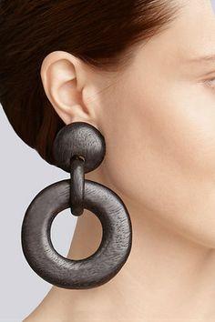 Josie Natori Wood Link Earrings