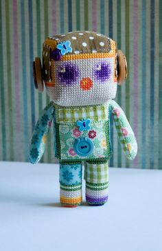 cross stitch doll