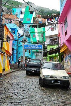 Favela Painting, Rio De Janeiro - unurth   street art
