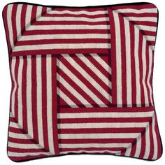 Needlepoint cushion optical trickery from Theo and the Major