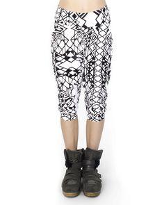Geo Print Low Crotch Shorts Organic Cotton