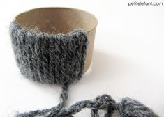 yarn napkin rings - super cute!