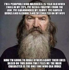 Christian tv star Star (& psycho) Imagines Vivid Rape And Murder Scenario For Atheist Family Athiest, Anti Religion, Judging Others, Duck Dynasty, Pro Choice, Set You Free, Stupid People, Republican Party, Bad News