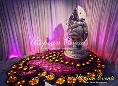 Our Indian wedding designs are detailed and beautiful. Utopian Events specializes in custom Indian wedding decorations that make your ceremony unique. Diwali Decorations, Indian Wedding Decorations, Reception Decorations, Wedding Themes, Flower Decorations, Wedding Ideas, Reception Ideas, Ganapati Decoration, Decoration For Ganpati