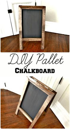Handcrafted Pallet Chalkboard - 150 Best DIY Pallet Projects and Pallet Furniture Crafts - Page 33 of 75 - DIY & Crafts