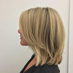 Medium Thin Hair, Medium Hair Styles, Short Hair Styles, Haircuts For Fine Hair, Honey Hair, Hair Color And Cut, Shoulder Length Hair, Hair Day, Balayage Hair