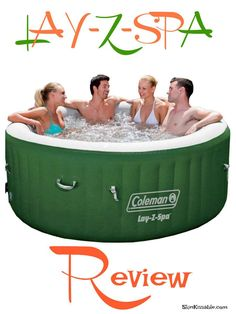 Portable outdoor hot tub product review. Enjoy the bubbles and jaccuzi lifestyle with the top rated Coleman inflatable lazy spa.