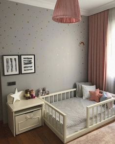 Stylish & Chic Kids Room Decorating Ideas - for Girls & Boys U. - Stylish & Chic Kids Room Decorating Ideas – for Girls & Boys Unbelievable kids room decorating ideas small spaces Source by plumclub - Toddler Room Decor, Baby Room Decor, Nursery Room, Bedroom Decor, Toddler Girl Rooms, Child's Room, Little Girls Room Decorating Ideas Toddler, Toddler Bedding Girl, Decorating Kids Rooms