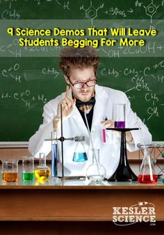 A Science Demo Day That Students Will Never Forget 9 Science Demos For an Awesome Demo Day in Your Science Class 8th Grade Science, Science Student, Elementary Science, Middle School Science, Physical Science, Elementary Schools, Science Resources, Science Lessons, Science Education