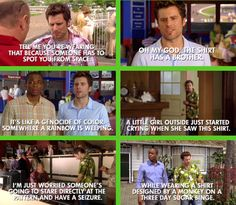 Hahaha this is the only thing that makes this episode awesome :) Psych Season Two Episode And Down To The Stretch Comes Murder