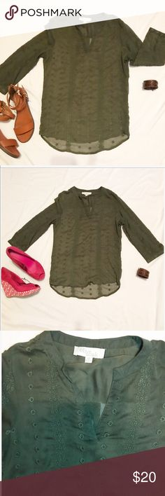 Army green blouse Army green blouse like new Olive & Oak Tops Blouses