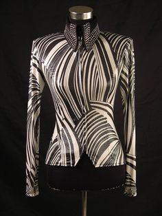 black and white with a fun texture. Show Diva.