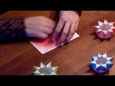 Waldorf ster lantaarn vouwen vanuit een vierkant - YouTube