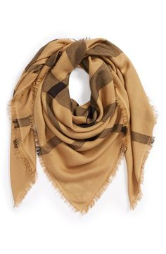 Burberry Overdyed Chambray Check Square Scarf - from @nordstrom #nordstrom