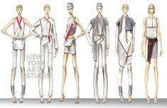 Fashion Design Portfolio, Illustration, Collection, Illustrations