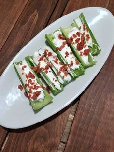 Celery, Cream Cheese and Bacon | Nevermore Lane #lowcarb #keto