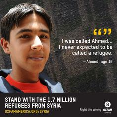 Stand with the 1.7 million refugees from Syria