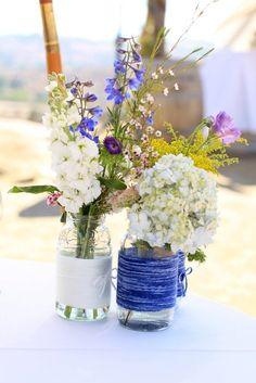 Wildflower Wedding Centerpieces | purple wildflower wedding centerpiece