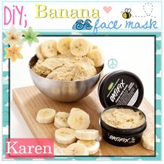 DIY; Banana Face Mask!! <3, created by every-girl-has-a-tip on Polyvore