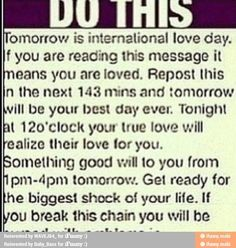 good old chain letters