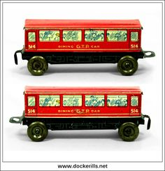 G.T.P. 514 Dining Car, Vintage Tin Toy, Glamtoy, Great Britain. Toys Uk, All Toys, Great Britain, Wales, Tin, Dining, Vintage, Products, Tin Metal