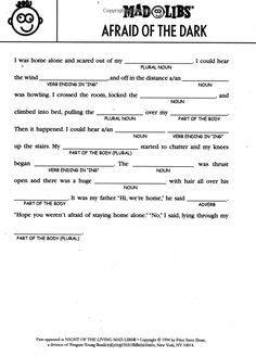 Printable Halloween Mad Libs for Kids | Mad, Therapy and Activities