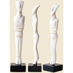 Greek Cycladic Figurine, Abstract Art Sculpture, Dry Cast Marble... ($54) ❤ liked on Polyvore featuring home, home decor, greek home decor, greek marble sculpture, marble sculpture, geometric figure and greek sculpture