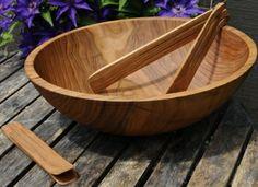 Finally an XL Wood Salad Bowl for an XL Salad (Large Deep Wooden Salad Bowls )| NH Bowl & Board